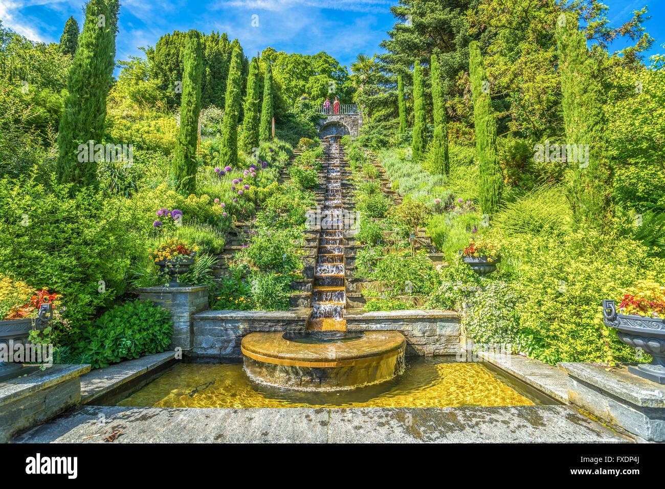 Italienische Wassertreppe, Insel Mainau - Stock Image