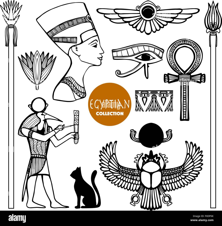 Egyptian Hieroglyphs Stock Vector Images Alamy