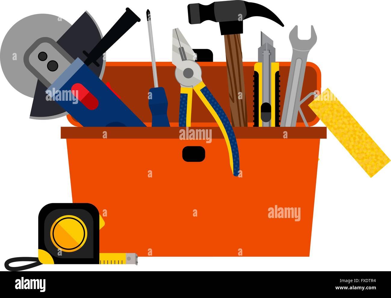 Toolbox for DIY house repair - Stock Vector
