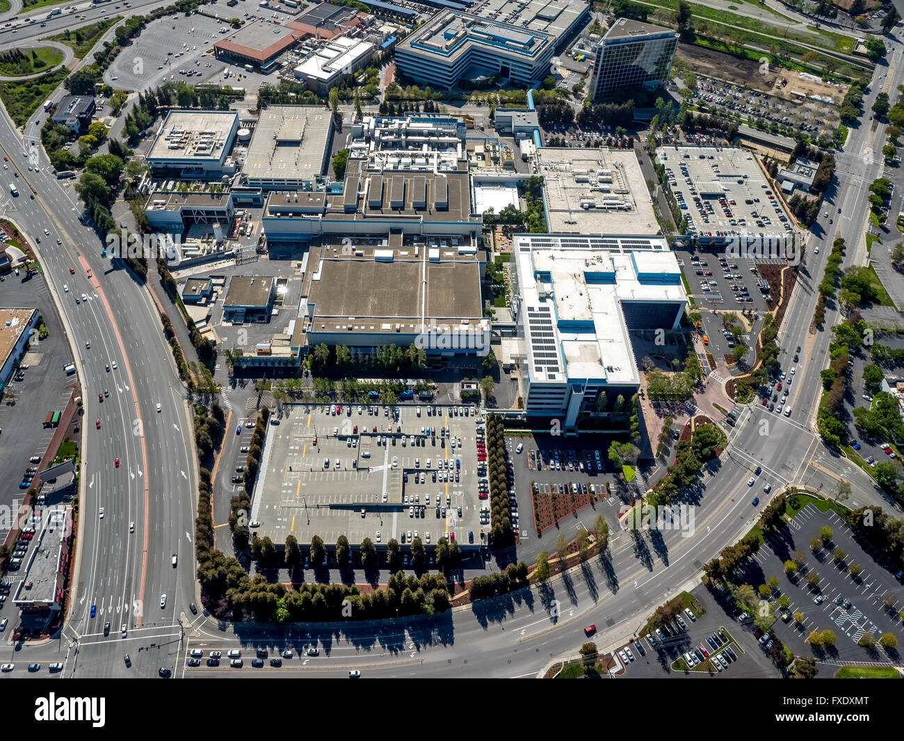 Intel headquarters, Vishay Americas inc. Broadcom ca technologies, Sophos, Santa Clara, Silicon Valley, California, - Stock Image