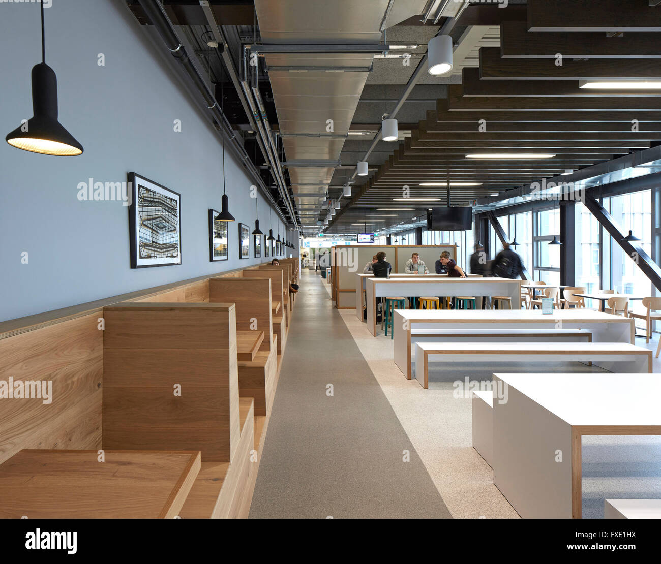 Amazing Interior View Of Main Cafe. City Of Glasgow College   Riverside Campus,  Glasgow, United Kingdom. Architect: Reiach And Hall Arch