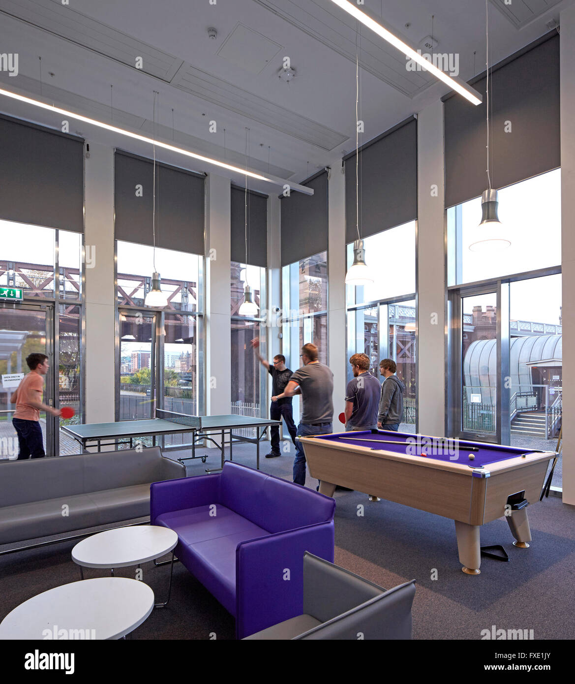 Interior view of student accommodation social room City of Glasgow