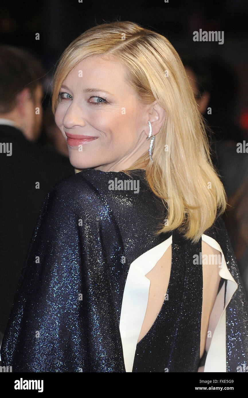 Cate Blanchett attends the 59th BFI London Film Festival Amex Gala Screening of Carol at Odeon Leicester Square - Stock Image