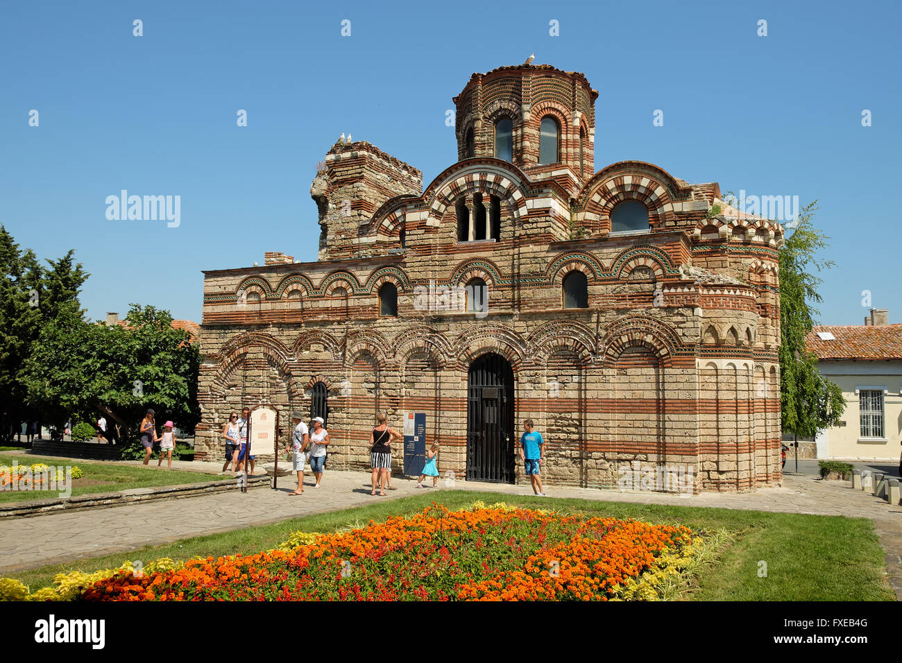 NESSEBAR, BULGARIA - JULY 18, 2015: The Church of Christ Pantocrator in old town of Nessebar, Bulgaria - Stock Image
