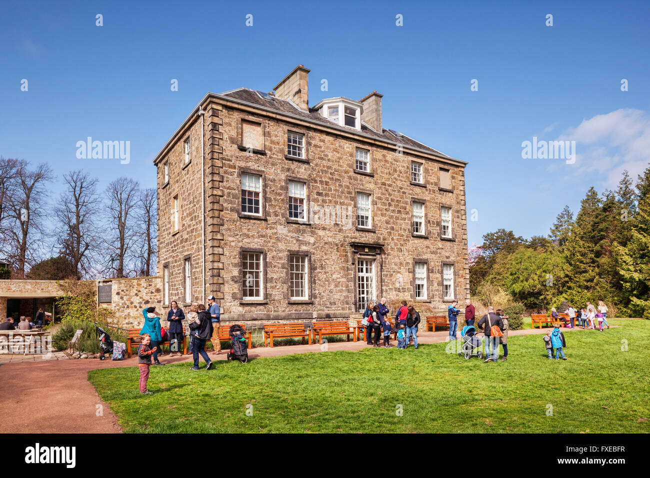 Inverleith House, Edinburgh Roal Botanic Gardens, Edinburgh, Scotland, UK - Stock Image