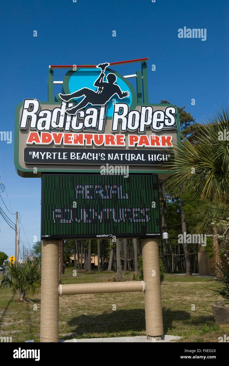Radical Ropes Adventure Park Myrtle Beach Sc Usa Stock