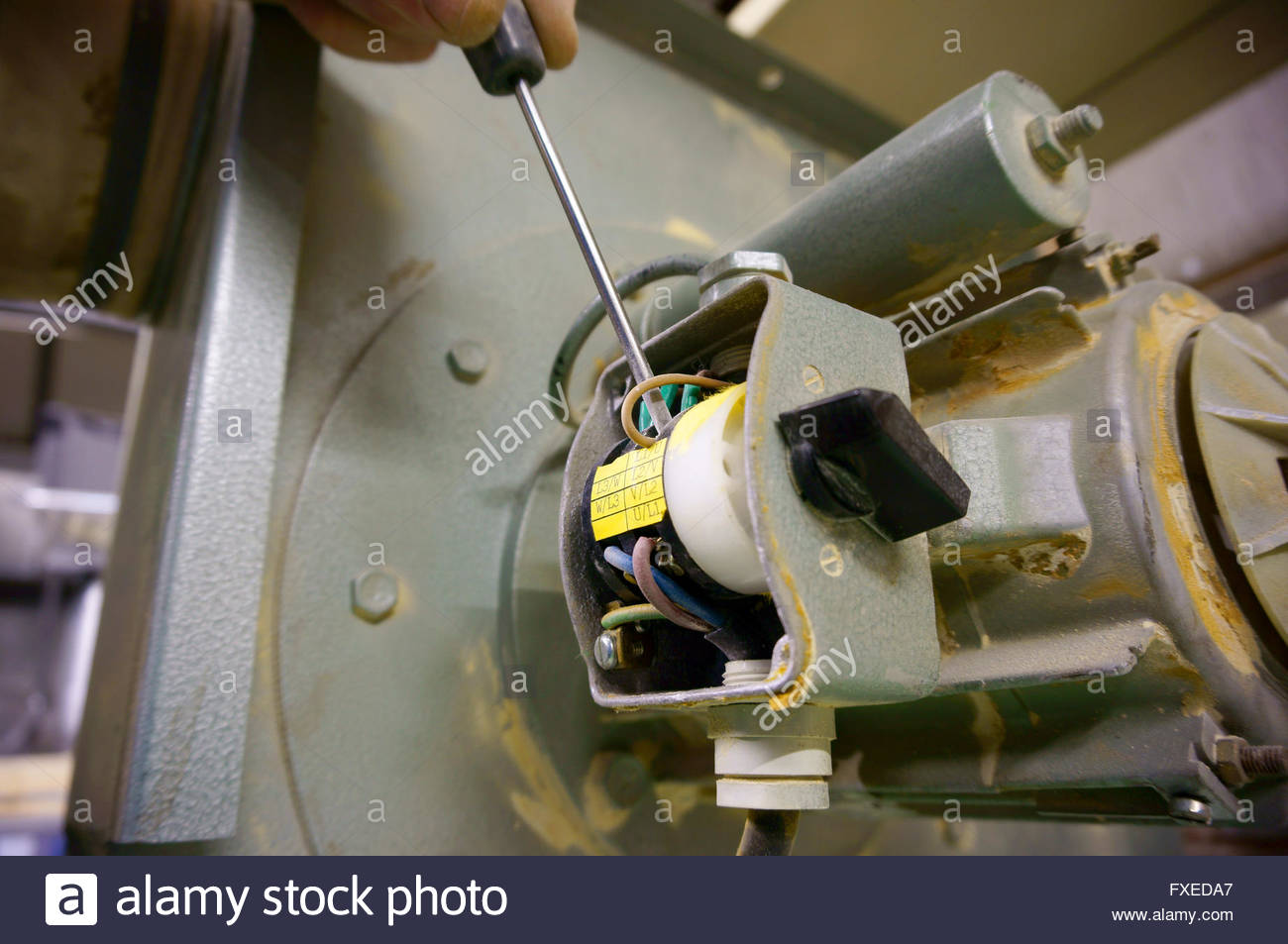 Wiring Switch Stock Photos Images Alamy Machine Man Image