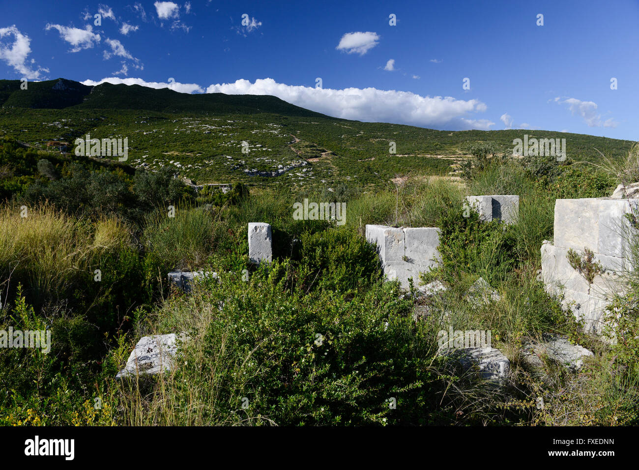 TURKEY Antakya, Musa Dagh, about 4000 armenian villagers fled during the genocide 1915 in world war I on the mountain - Stock Image