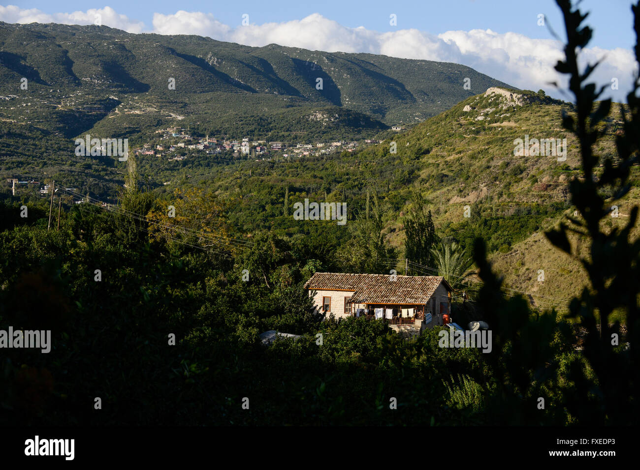 TURKEY Antakya, Musa Dagh, former armenian village Yoghonoluk, about 4000 armenian villagers fled during the genocide - Stock Image