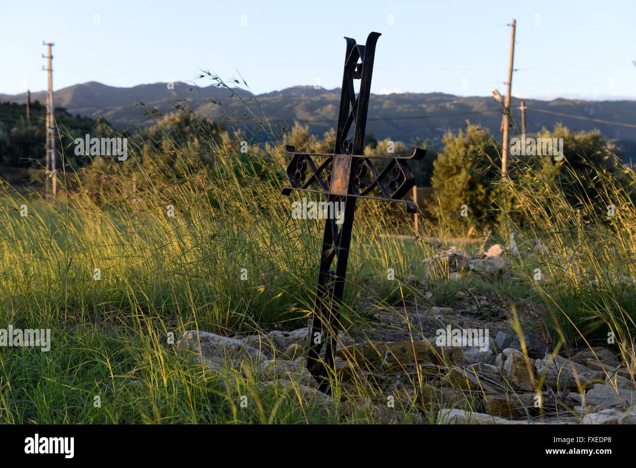 TURKEY Antakya, Musa Dagh, armenian village Vakifli, armenian graveyard, about 4000 armenian villagers fled during Stock Photo
