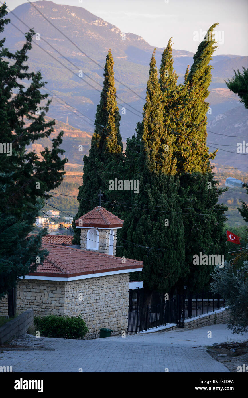 TURKEY Antakya, Musa Dagh, armenian village Vakifli, armenian church, about 4000 armenian villagers fled during - Stock Image