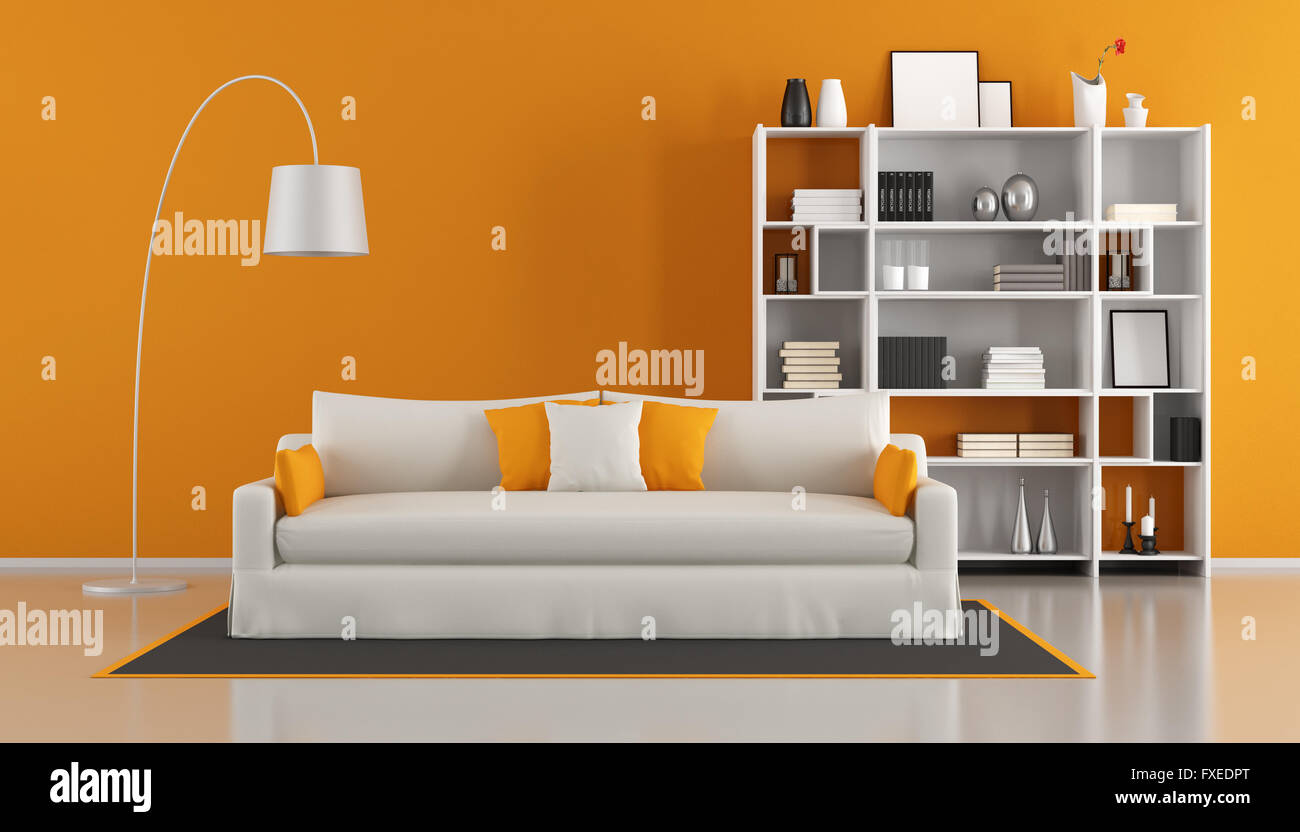 Minimalist Lounge Sofa Modern Bookcase Wall Living Room ...