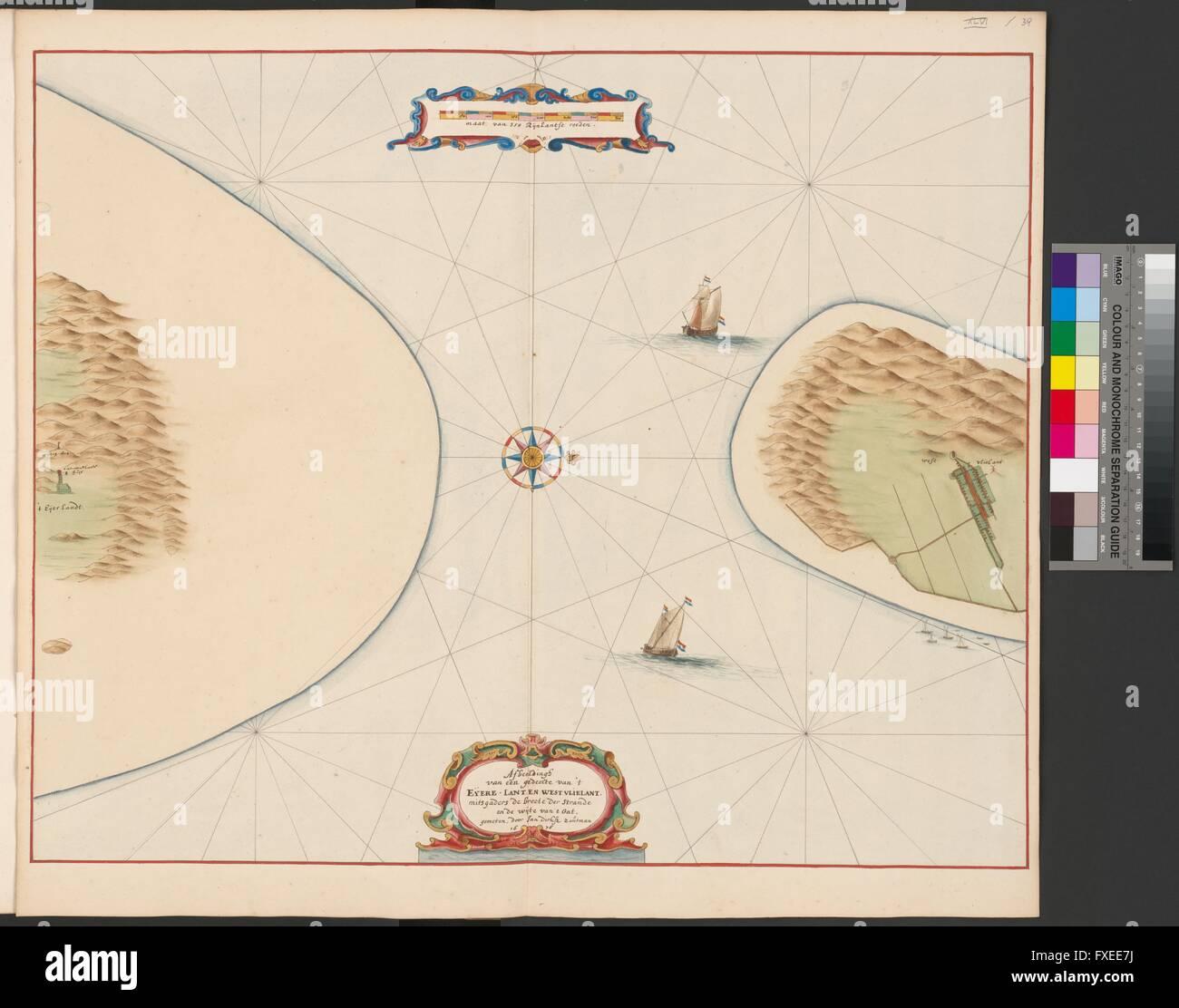 Karte Texel.Karte Des Eierlandse Gats Und Teilen Der Angrenzenden Inseln Texel