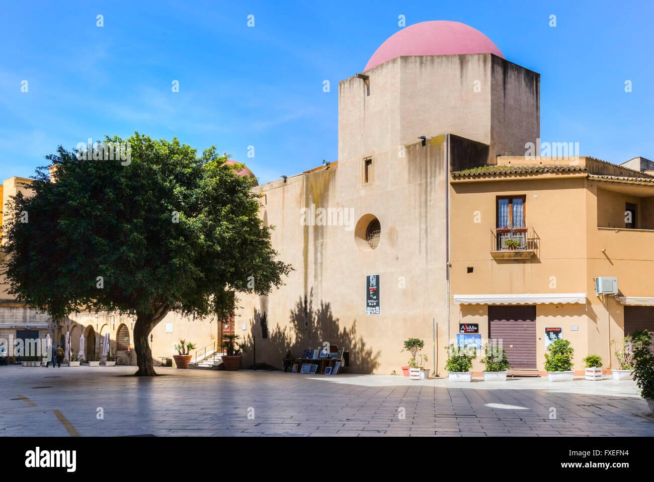 Mazara del Vallo, Piazza Plebiscito, Sicily, Italy - Stock Image