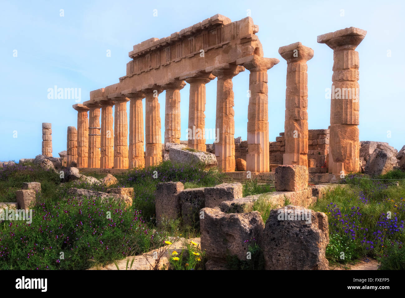 Selinunte, Castelvetrano, Sicily, Italy Stock Photo