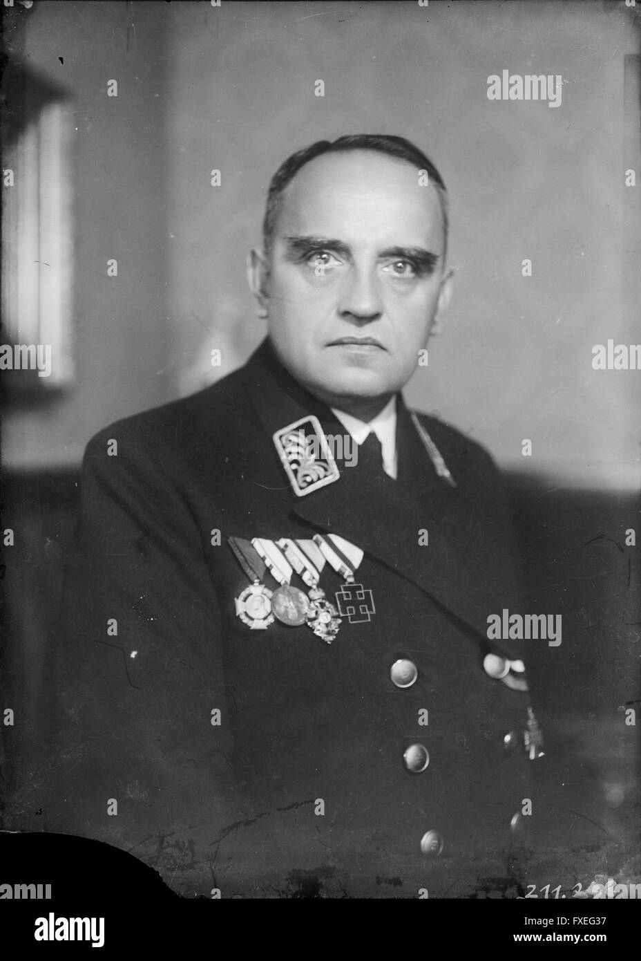 Michael Skubl in Polizeiuniform - Stock Image