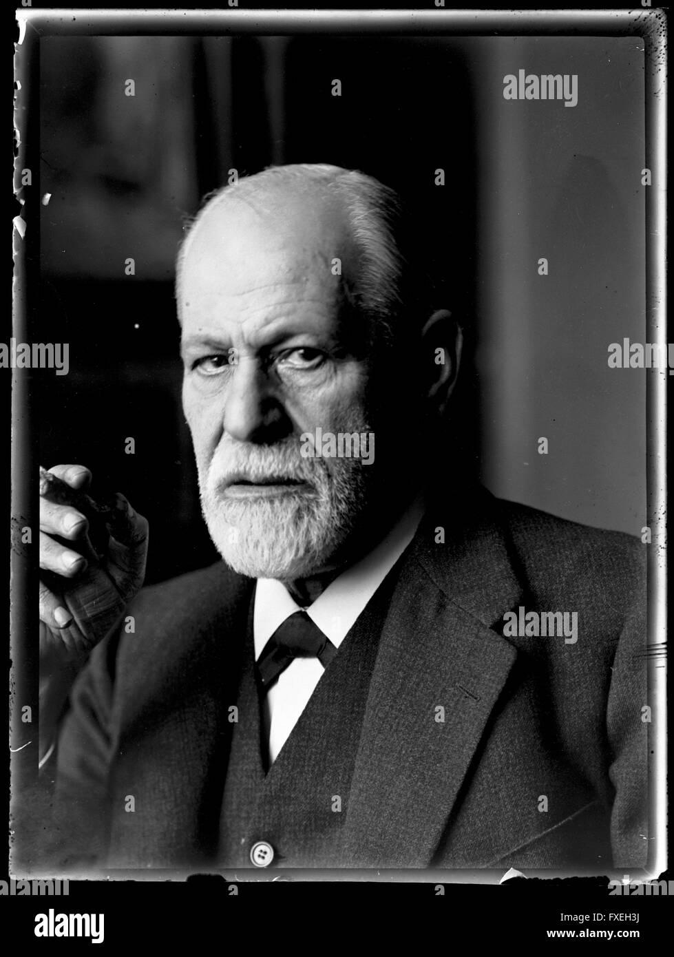Bildnis Sigmund Freud (1856-1939) - Stock Image