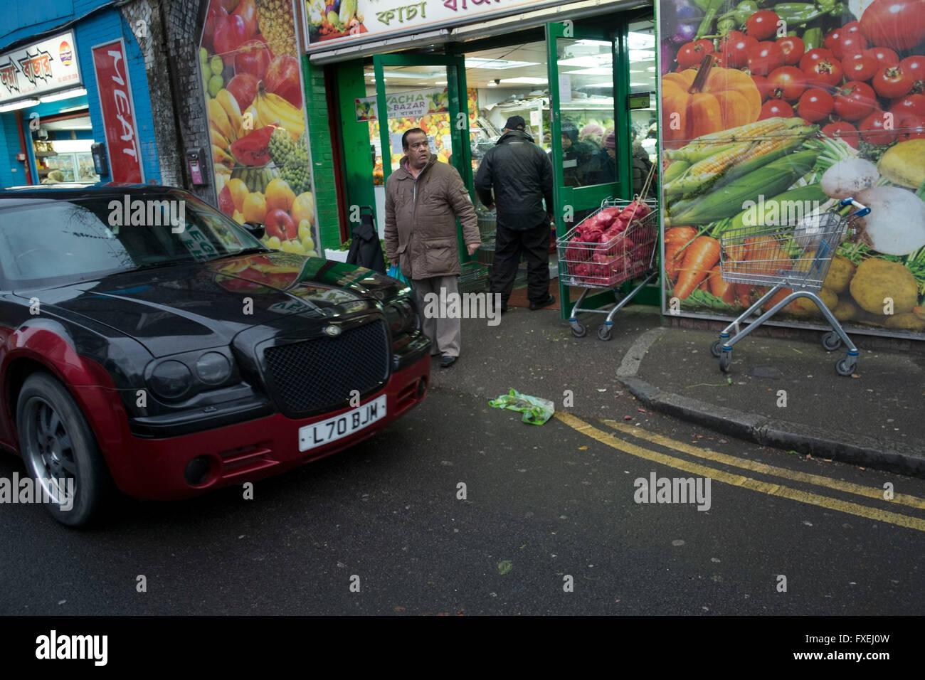Muslim Bangladeshi Community East London Stock Photos