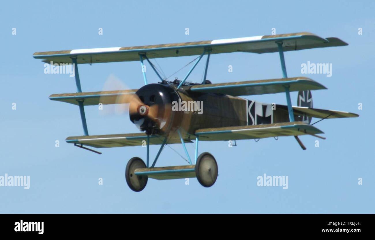 Fokker Triplane Stock Photo