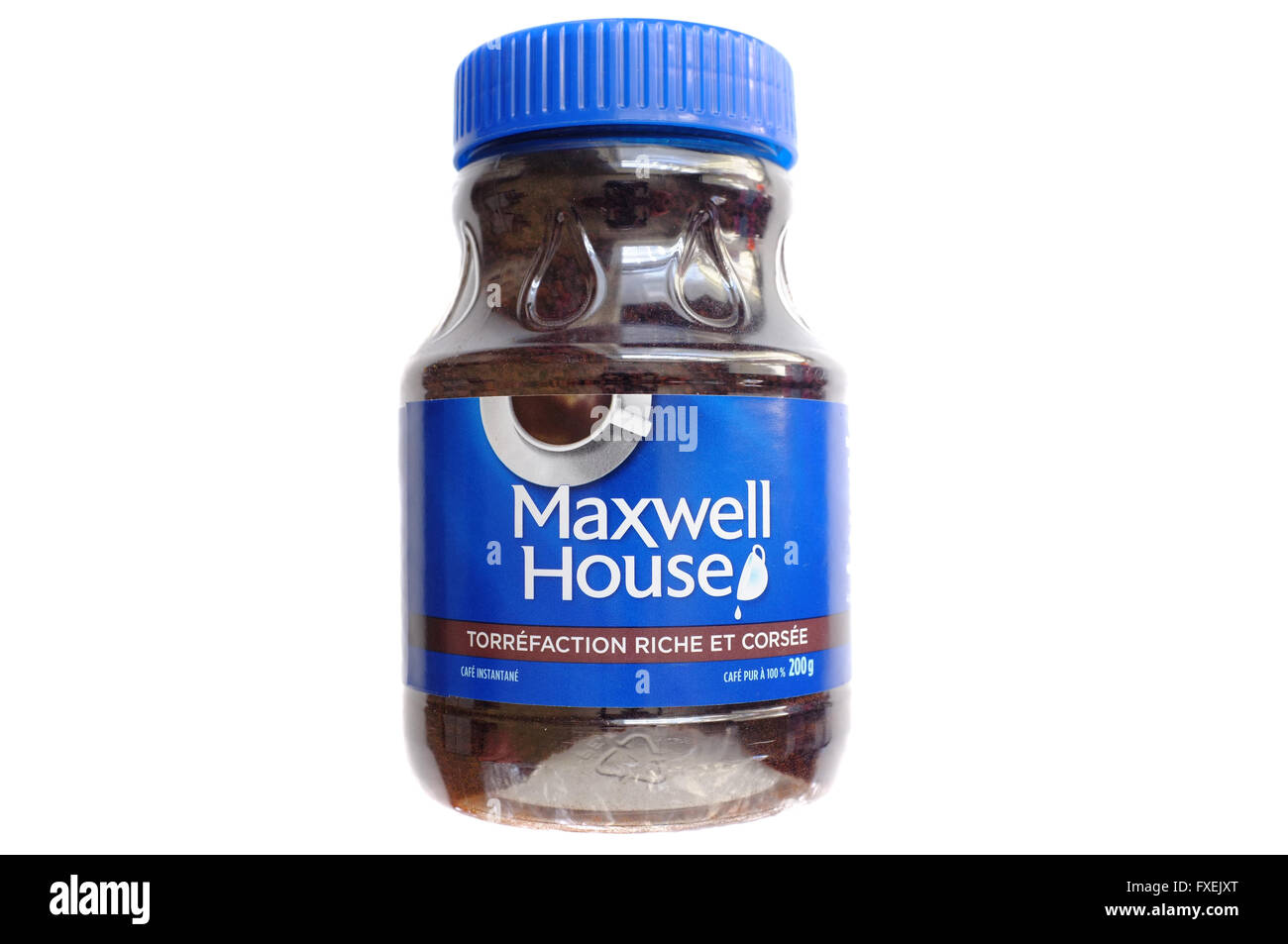 A French Labeled Jar Of Maxwell House Coffee Photographed