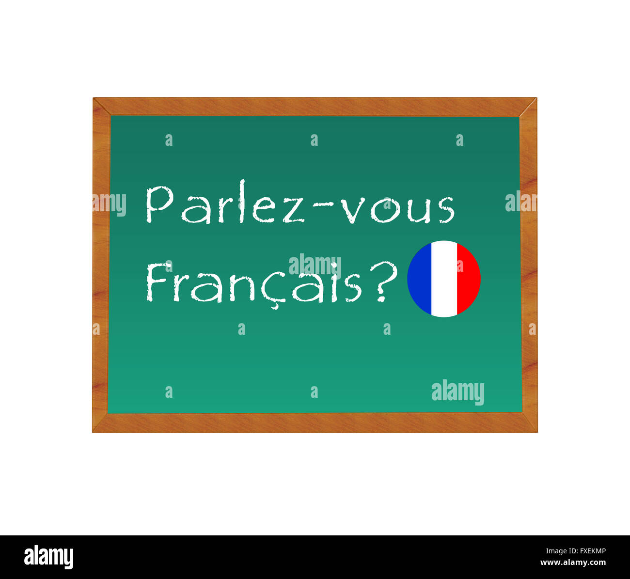 Blackboard With The Text Do You Speak French In French Language Stock Photo Alamy