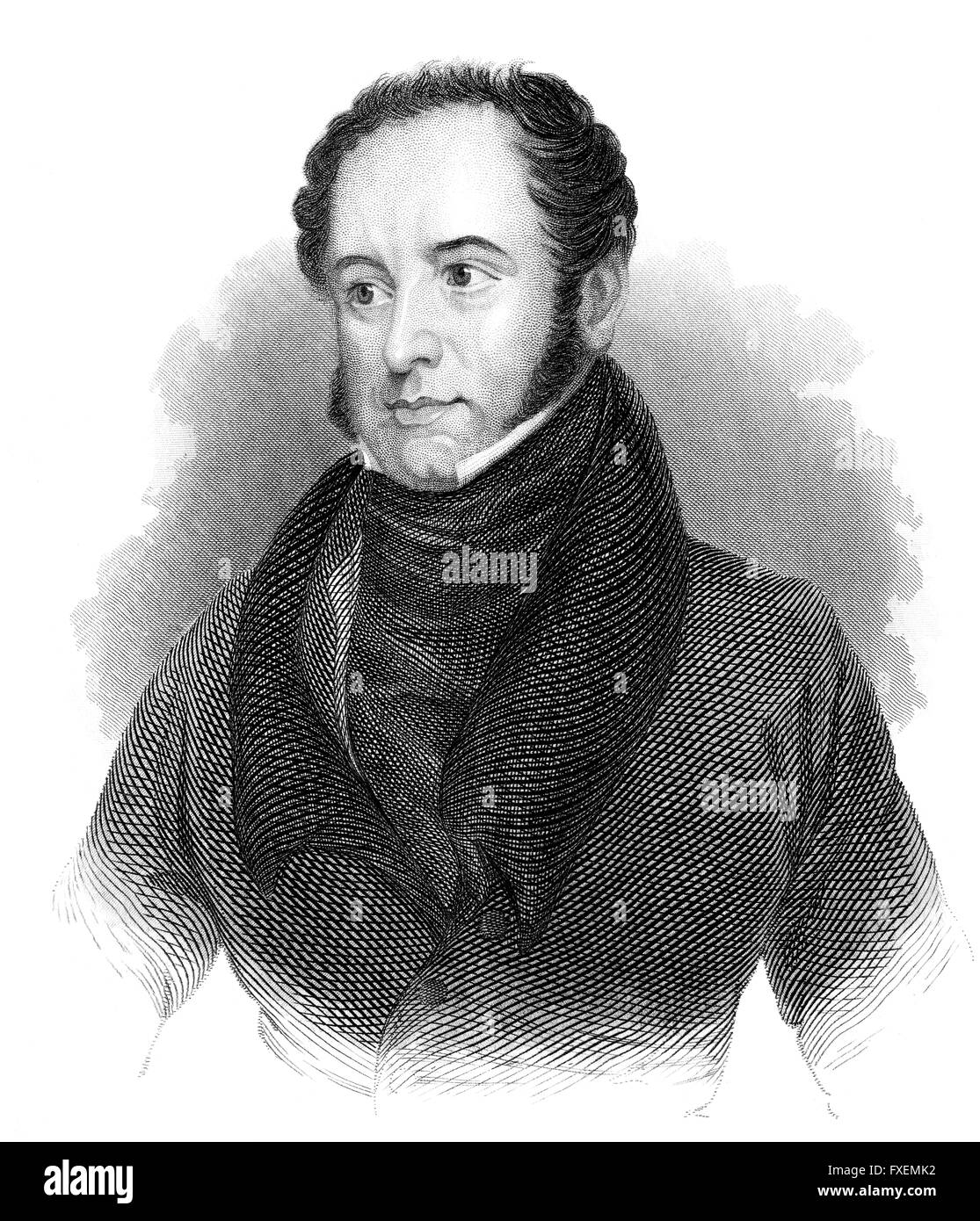 Theodore Edward Hook, 1788-1841, an English man of letters, composer and a civil servant in Mauritius, Theodore - Stock Image