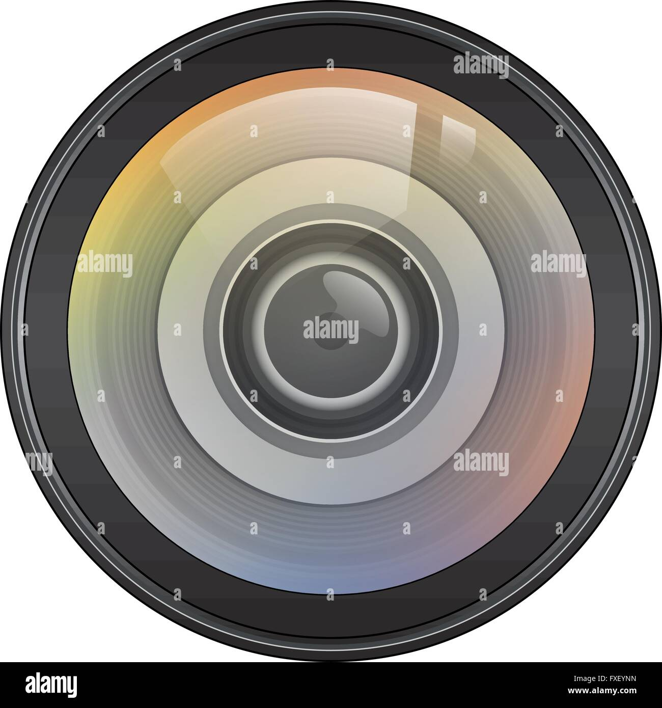 Illustration Vector Graphic Lens for the creative use in graphic design - Stock Image