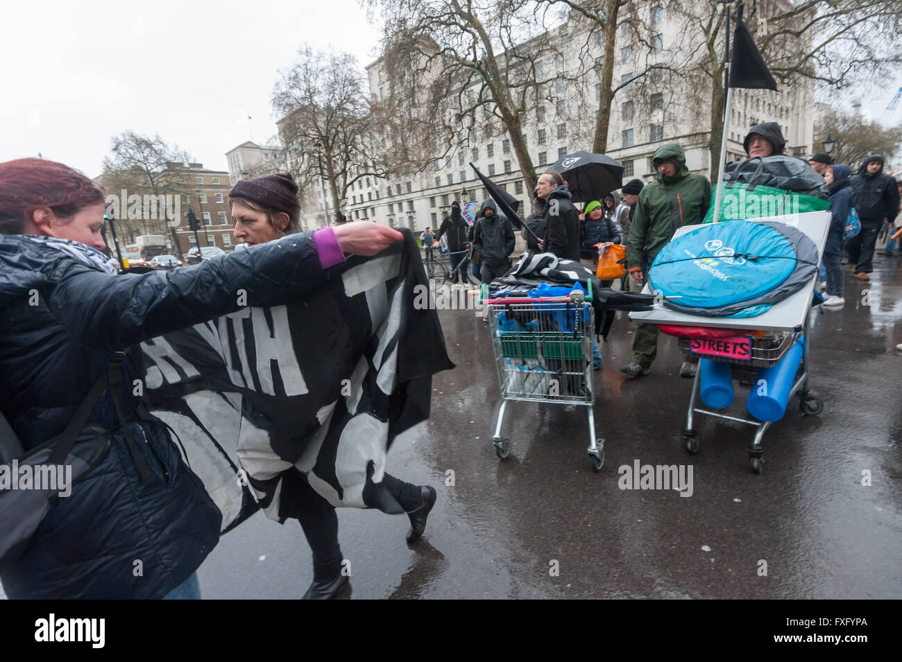London, UK. 15th April, 2016. Direct action group Streets Kitchen which which supports homeless on London streets Stock Photo
