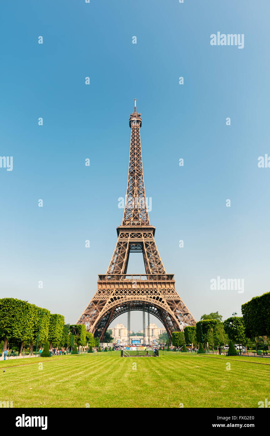 Eiffel Tower, Paris, France. - Stock Image