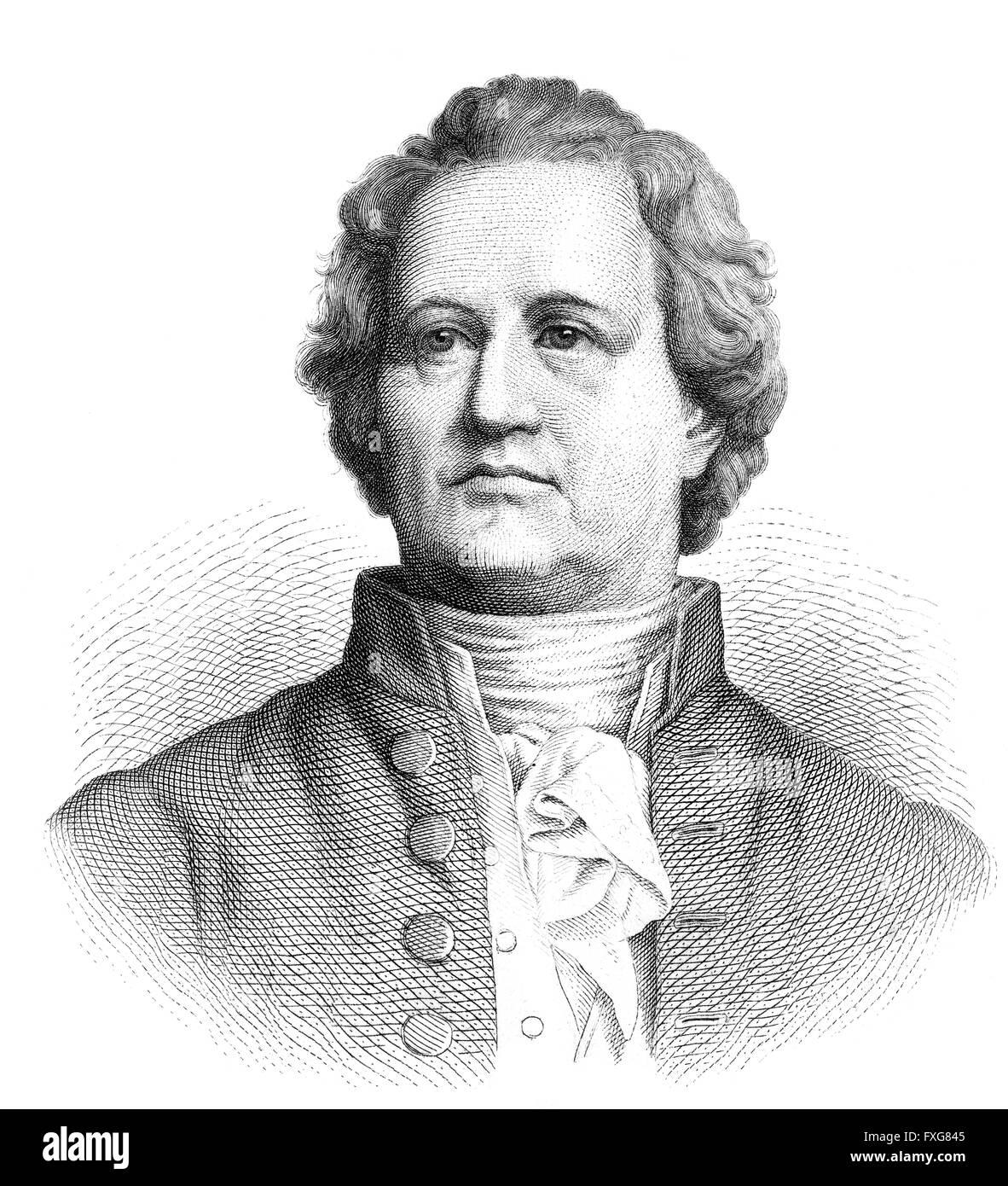 Johann Wolfgang Von Goethe 1749 1832 German Poet Stock