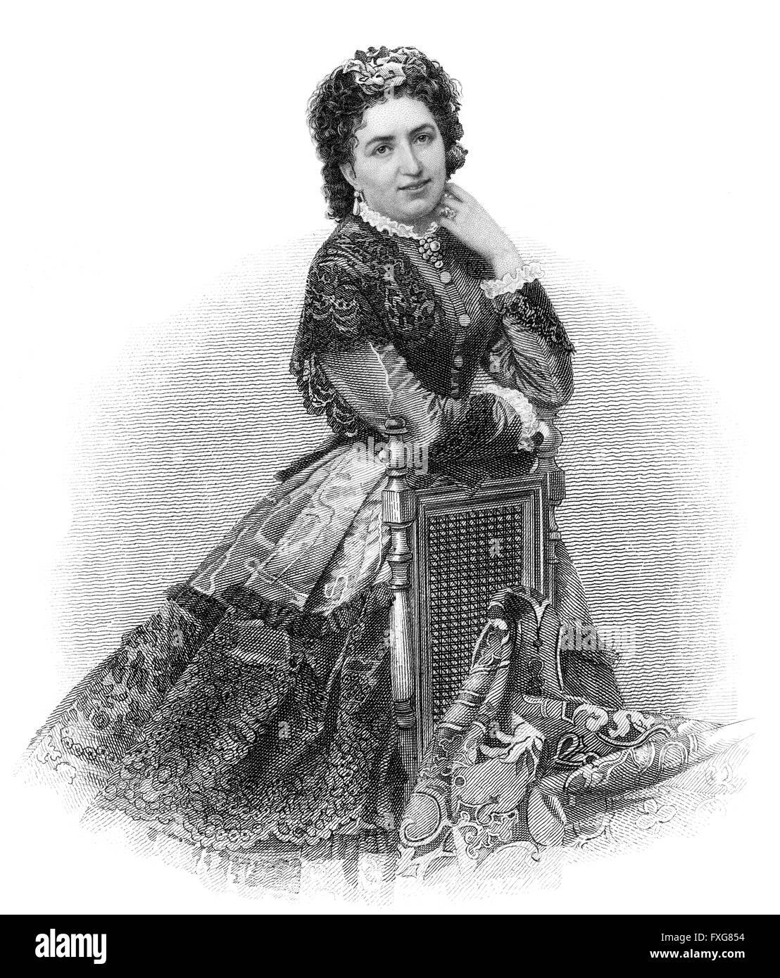 Valesca Guinand, 1837-1916, actress Stock Photo