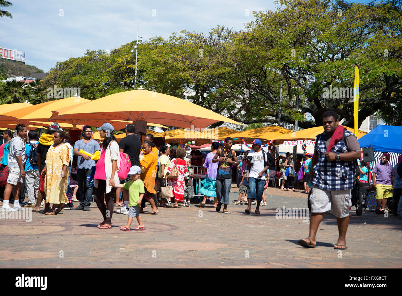 social awareness and participation fair to help inclusion and integration of people with disabilities. Noumea, South - Stock Image