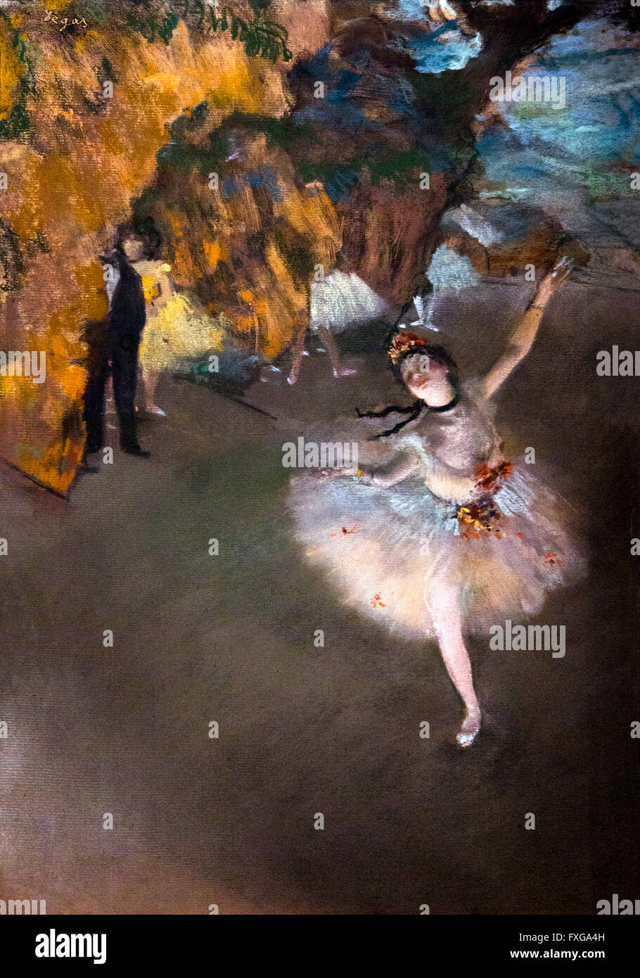 Dancer on the Stage, Ballet, L'Etoile, by Edgar Degas, circa 1876, Musee D'Orsay Art Gallery, Paris, France, - Stock Image