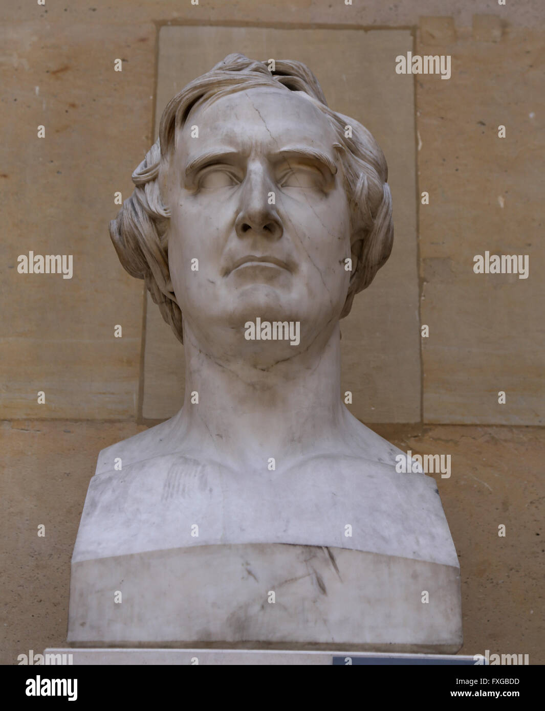 Francois Arago (1786-1853). French mathematician, physicist, and politician. Bust, marble, 1830. David d'Angers - Stock Image