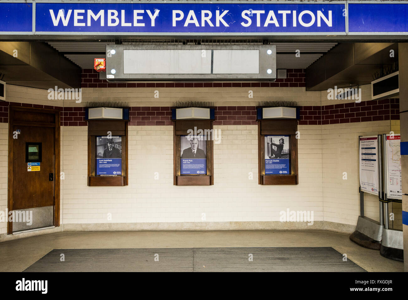 Closed ticket offices at Wembley Park Station in London, UK - Stock Image