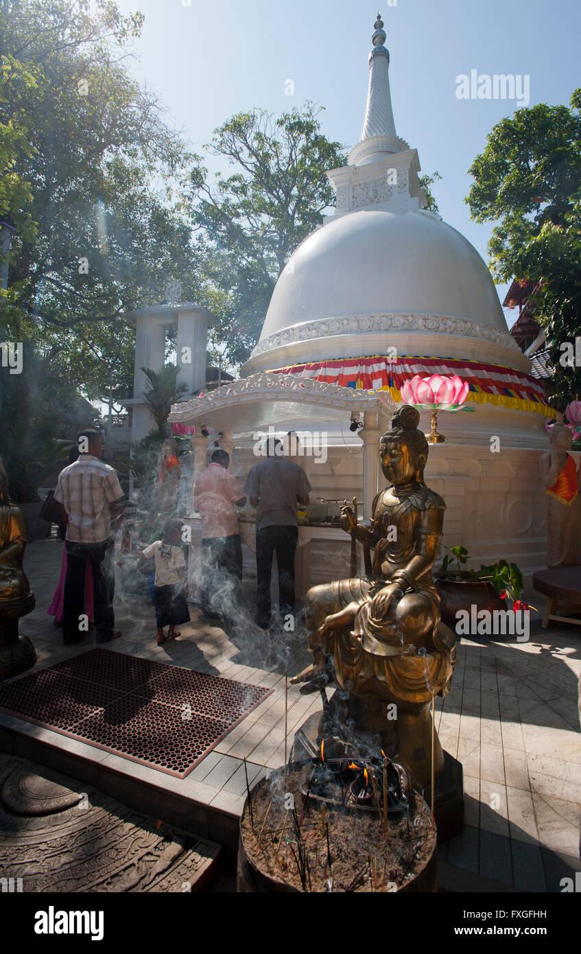 Sri Lanka Colombo, Isipathanaramaya buddhist temple / buddhistischer Tempel Isipathanaramaya Stock Photo
