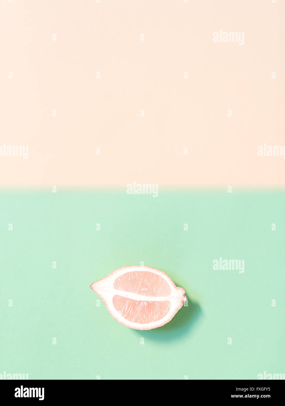 Chopped lemon - Stock Image