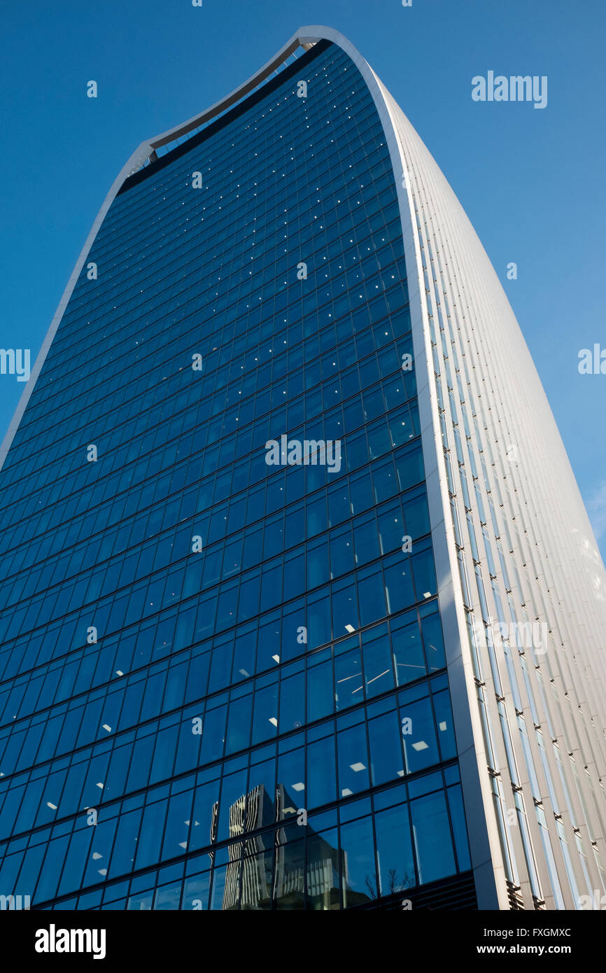 20 Fenchurch Street, the building in London also known as the Walkie Talkie building. - Stock Image