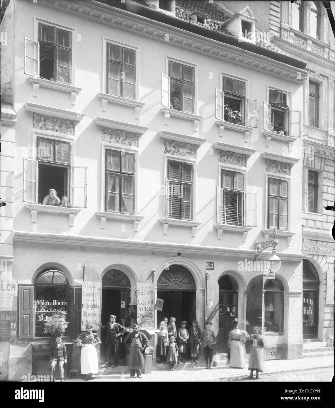 Wien 2, Große Sperlgasse 36 - Stock Image