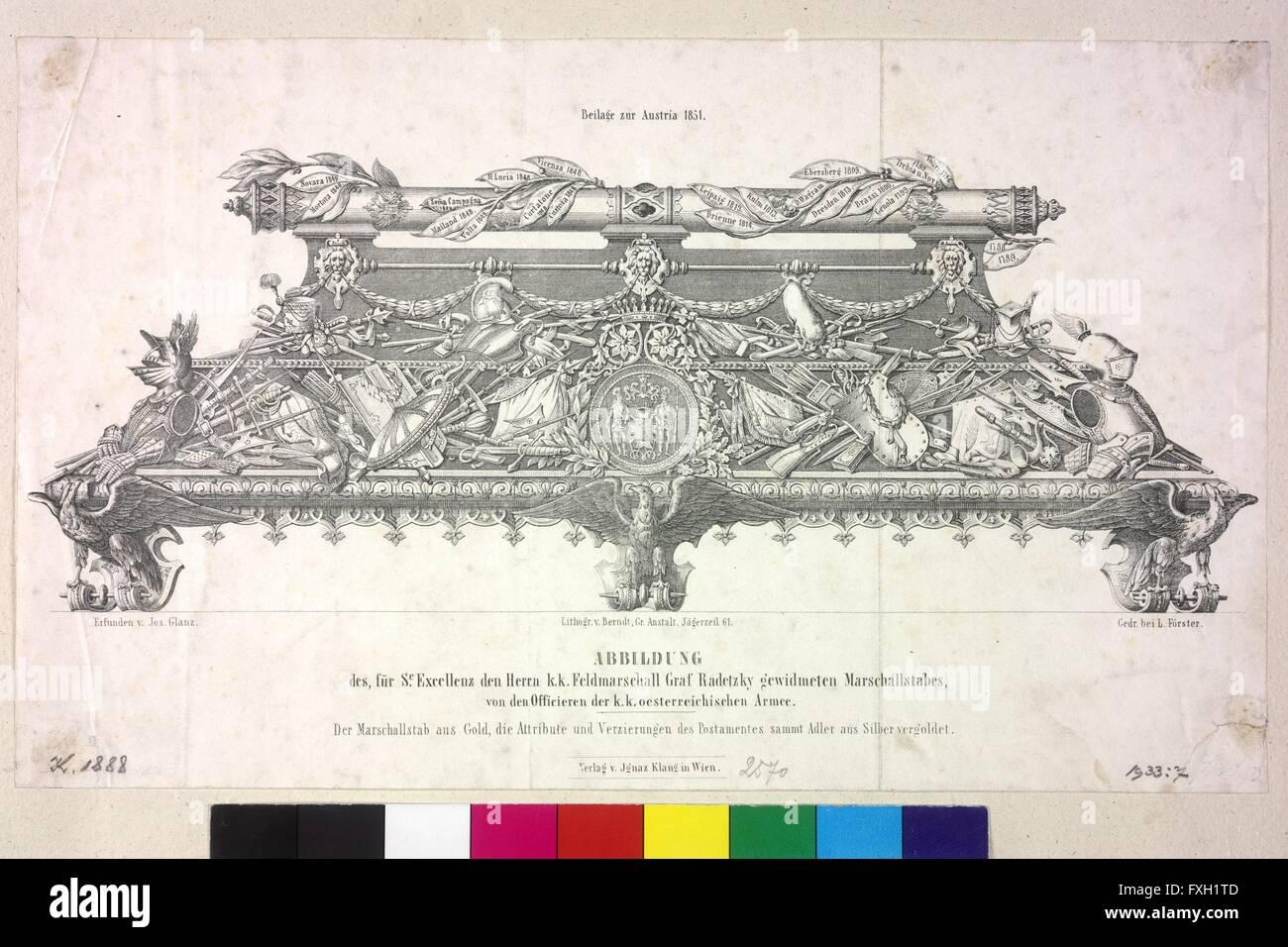 Marschallstab für Feldmarschall Graf Radetzky - Stock Image
