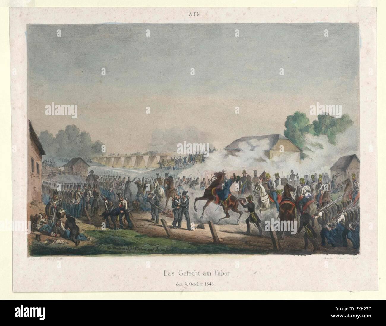 Das Gefecht am Tabor den 6. October 1848 - Stock Image