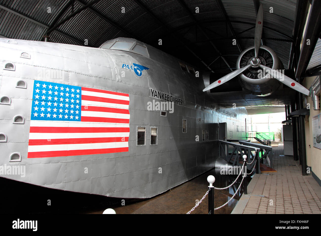 Pan Am Yankee Clipper exhibited at the Foynes Flying Boat Museum, Foynes, Ireland - Stock Image