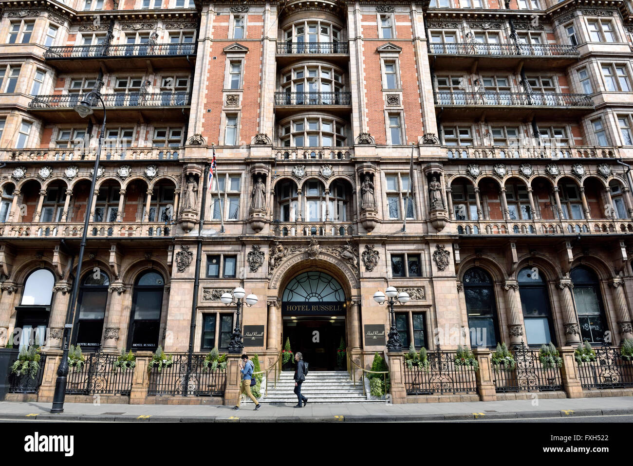 Hotel Russell, Russell Square, Bloomsbury London Borough of Camden England Britain UK Stock Photo