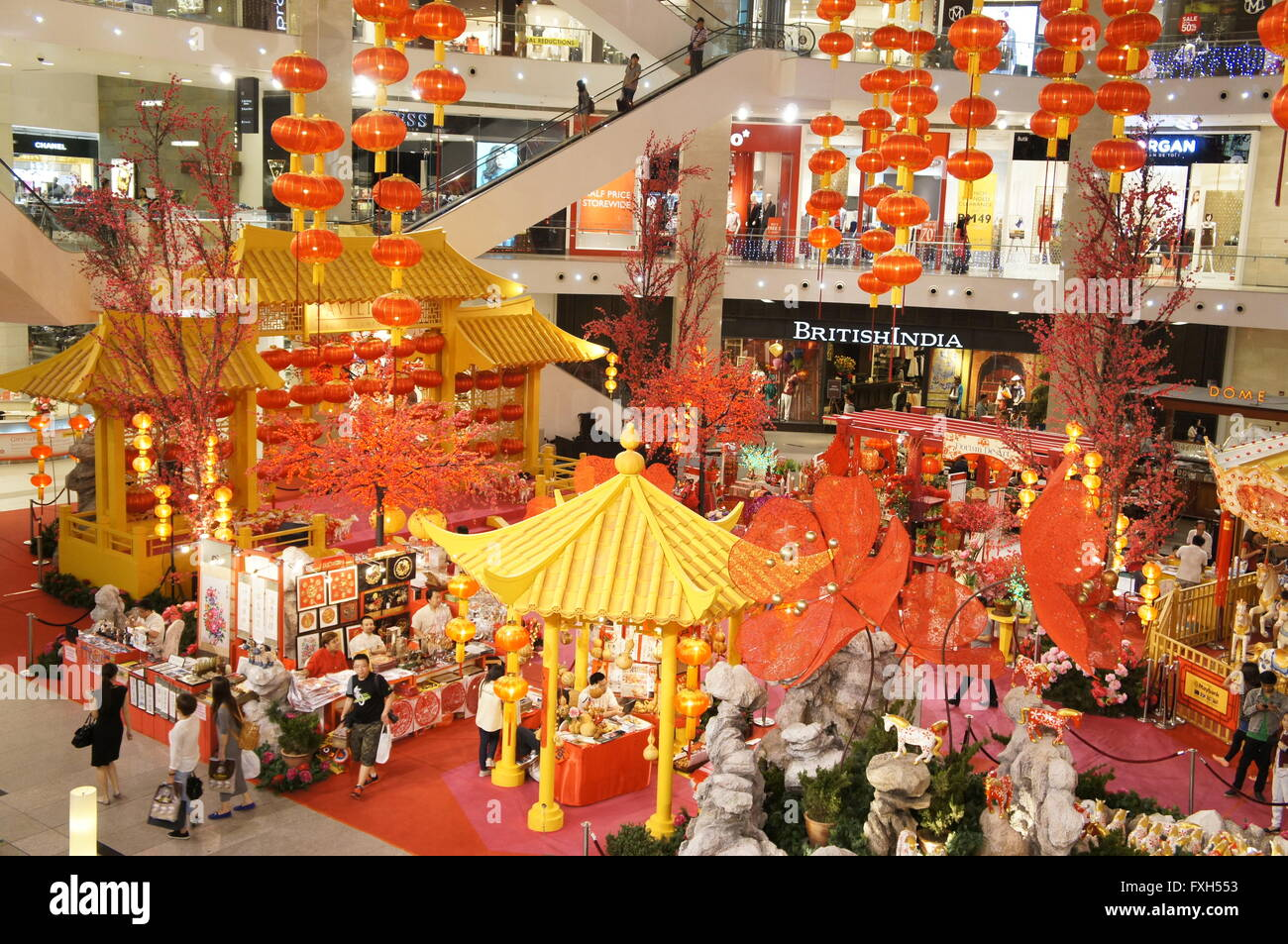 Malaysian shopping mall decorated for Chinese New Year ...