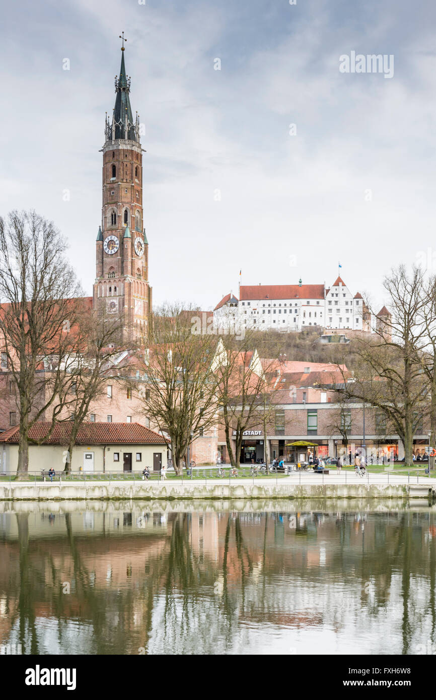LANDSHUT, GERMANY - MARCH 31. Basilica St. Martin in Landshut, Germany on March 31, 2016. The basilica St. Martin - Stock Image