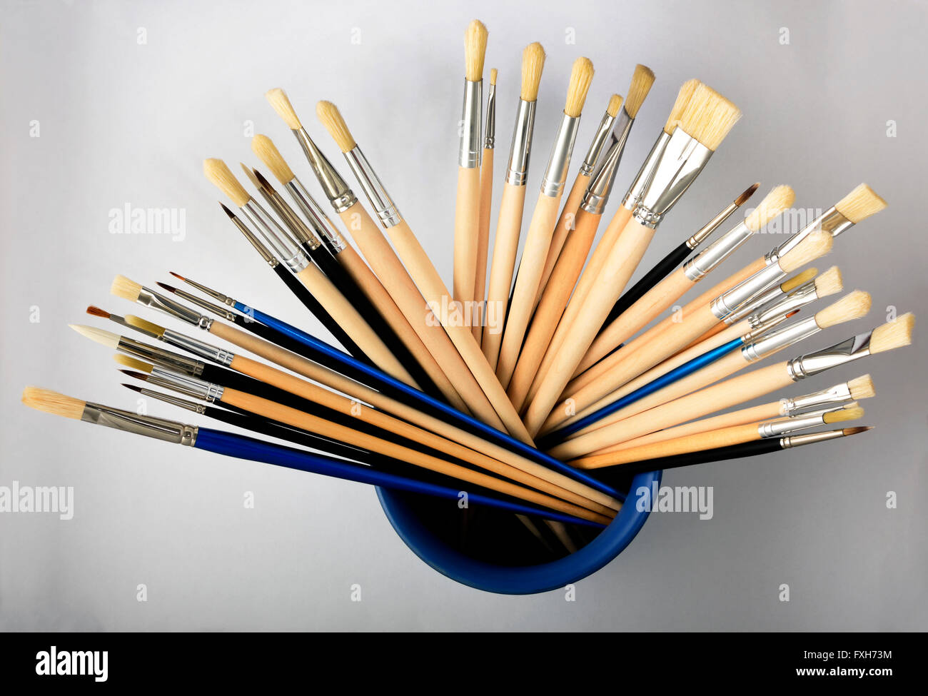 artists paint brushes - Stock Image