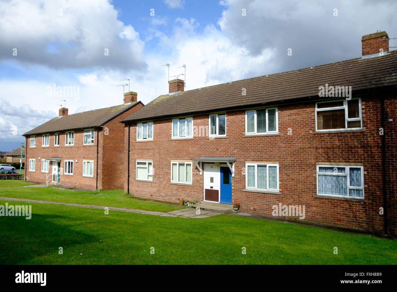 Social housing in Sheffield, UK - Stock Image