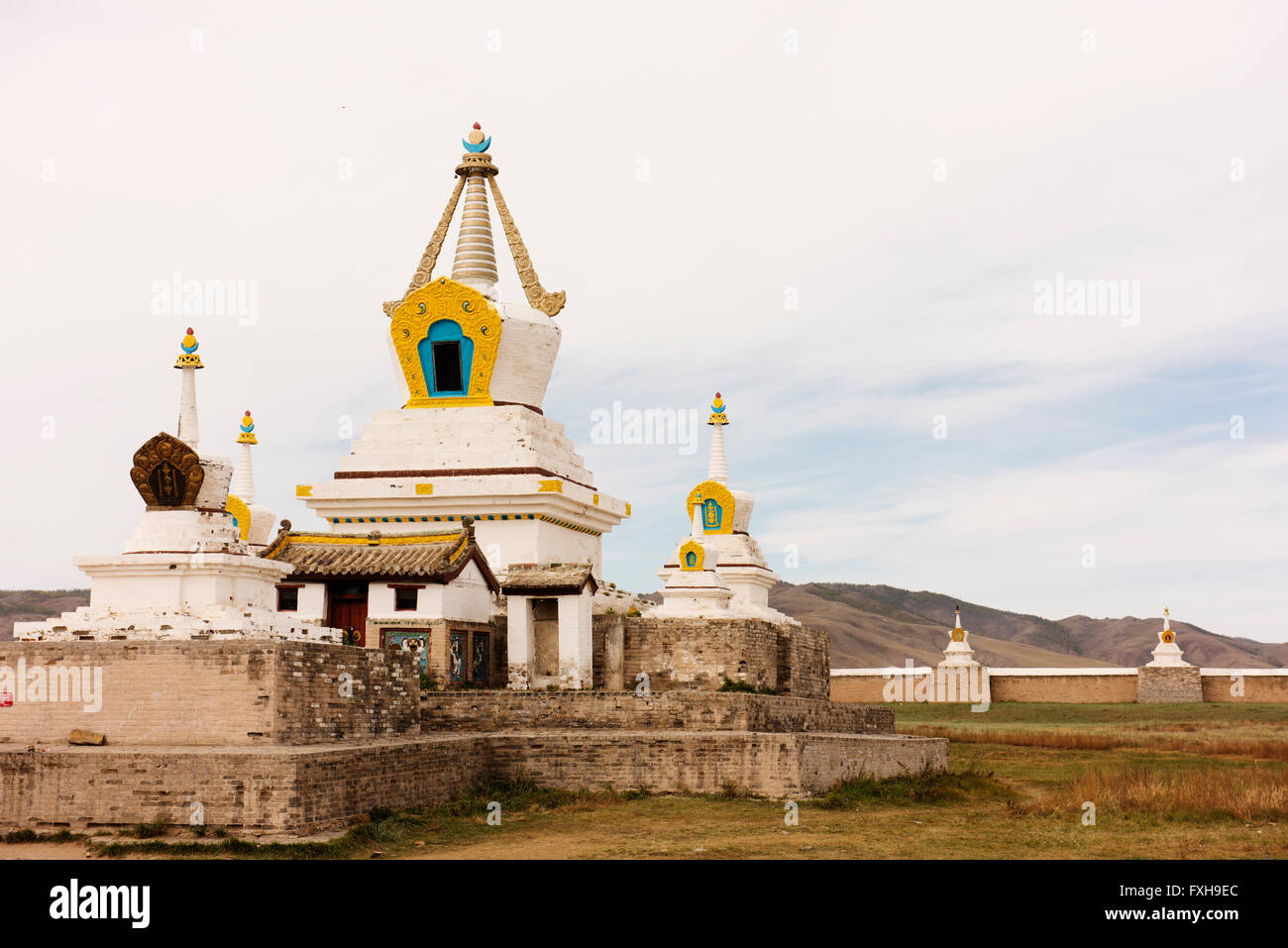 Erdene Zuu Monastery in remote Ovorkhangai Province, Mongolia. - Stock Image