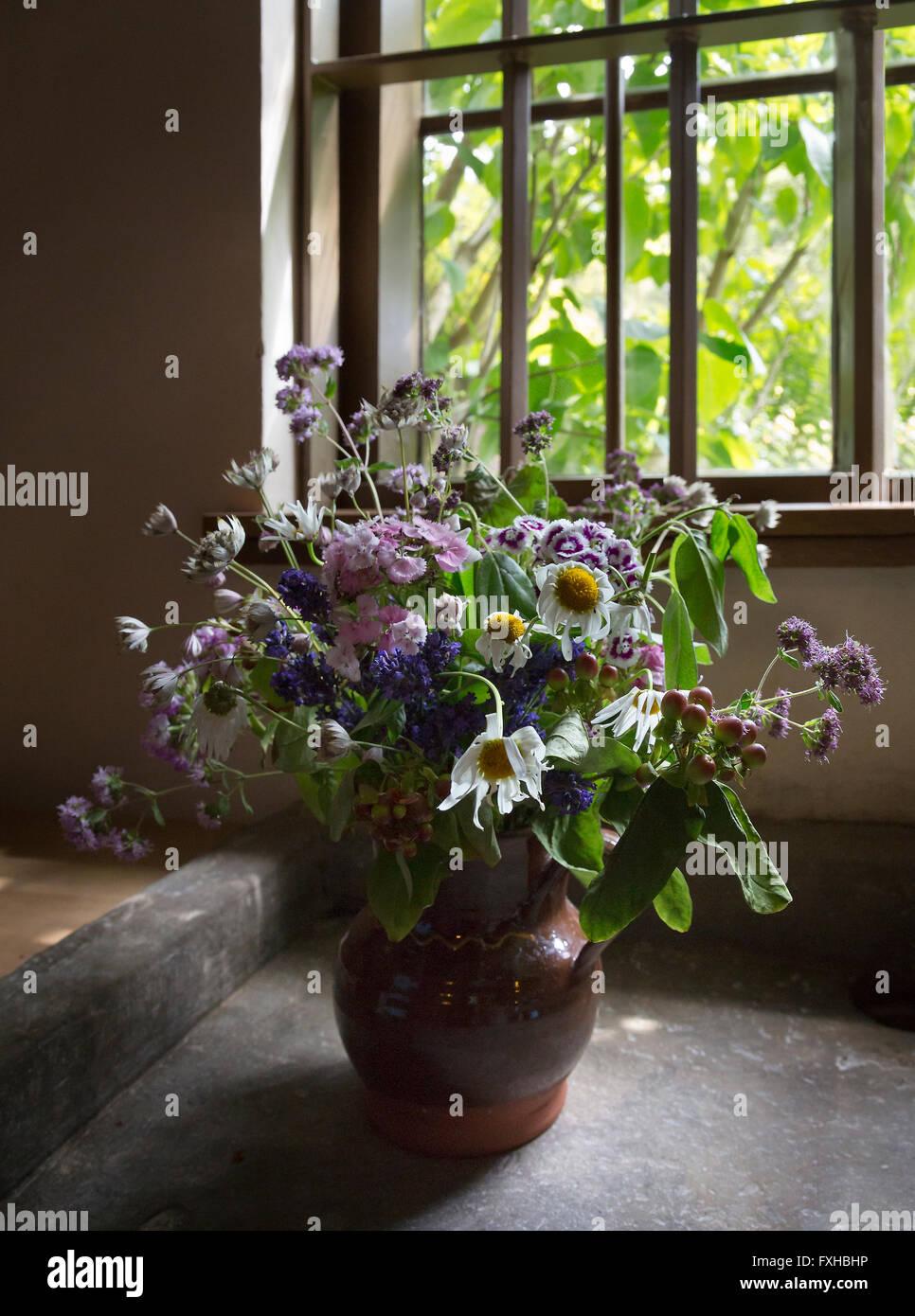 Cut flowers. - Stock Image