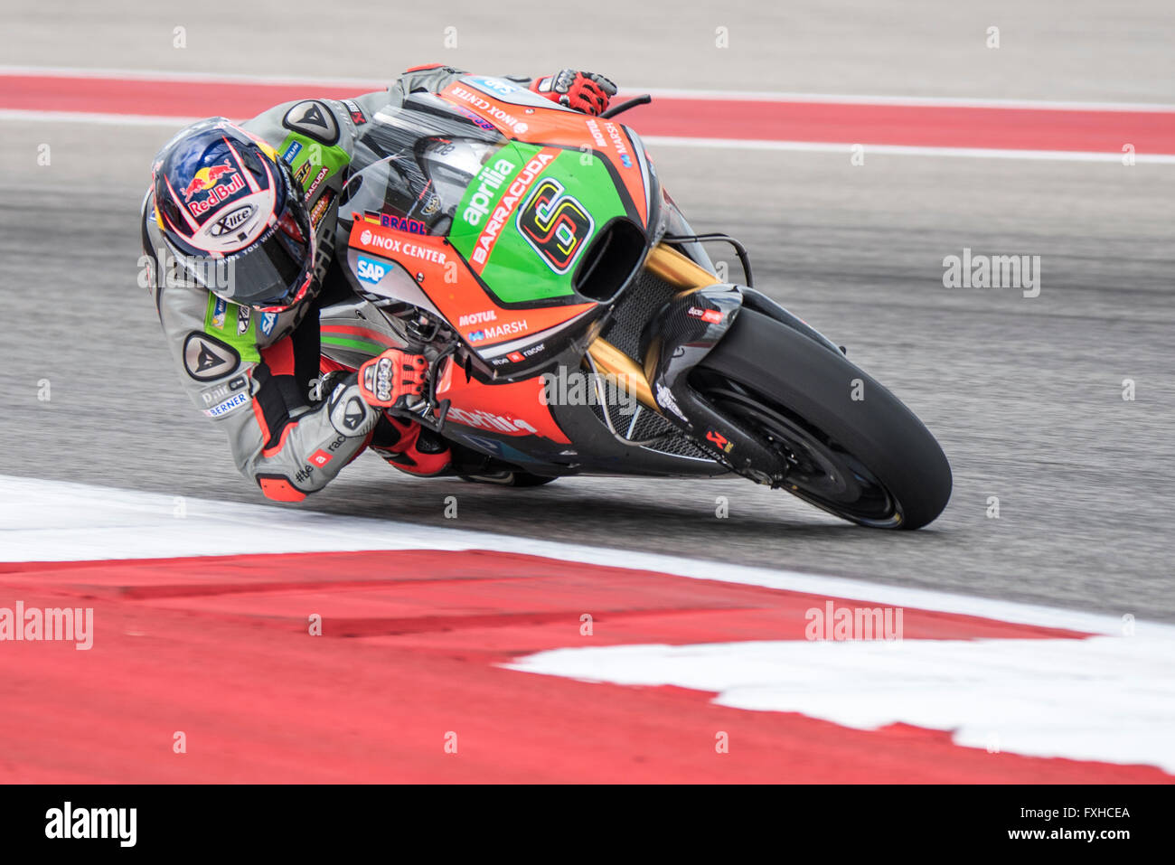 Stefan Bradl of Aprilia Racing Team Gresini seen during the 2016 Red Bull Grand Prix of the Americas at Circuit Stock Photo